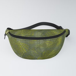 Leaves V3 YELLOW GREEN Fanny Pack