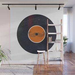 Vinyl Record Art & Design | Handlebar Mustache Wall Mural