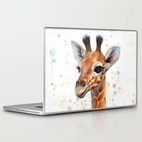 baby Laptop & iPad Skins featuring Giraffe Baby by Olechka