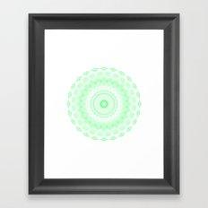 Snowflake #006 transparent Framed Art Print