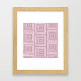 Dusty Rose Drawing Therapy Framed Art Print