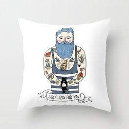 Tattooed Joe Throw Pillow