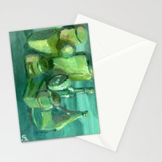 Still Life Study in Green Stationery Cards