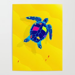Paper Craft Sea Turtle Poster