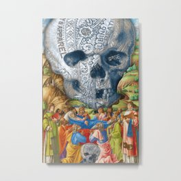 Rubino Vintage Skull Garden Rise Metal Print