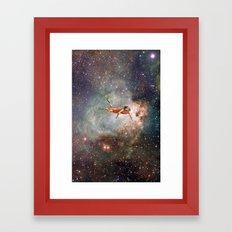 Woman hunting the zodiac Framed Art Print