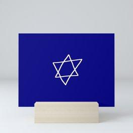Star of David 17- Jerusalem -יְרוּשָׁלַיִם,israel,hebrew,judaism,jew,david,magen david Mini Art Print