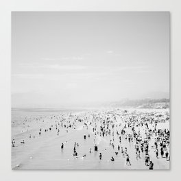 Santa Monica in Black and White Canvas Print
