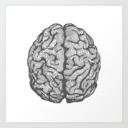 Brain vintage illustration Art Print