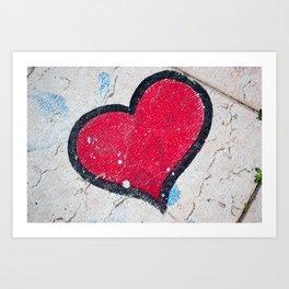 Pavement Heart Art Print