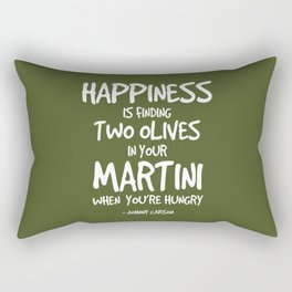 Olive in your Martini Quote - Johnny Carson Rectangular Pillow