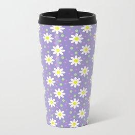 daisy dots violet Metal Travel Mug