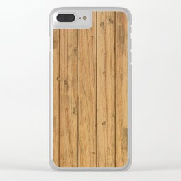 Rustic Wood Panel Pattern Clear iPhone Case