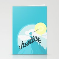justice Stationery Cards featuring Justice !.. by Oblivion Creative