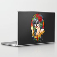 day of the dead Laptop & iPad Skins featuring Day of the Dead by Little Lost Forest