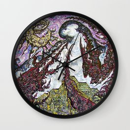 ' Templez Ov Krag '  By: Matthew Crispell Wall Clock