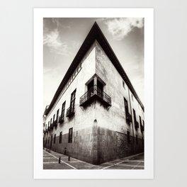 The oblique building Art Print