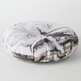 Elegant dark swirls of marble Floor Pillow