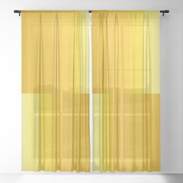Dégradé Stripes XVI - Yellow Sheer Curtain