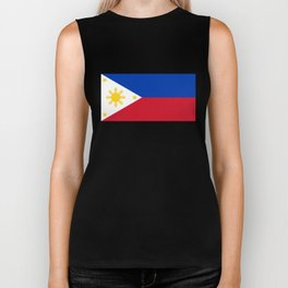 Republic of the Philippines national flag (50% of commission WILL go to help them recover) Biker Tank