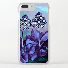 Lavender Periwinkle Mint Auriculas : Temple of Flora Art Print Clear iPhone Case