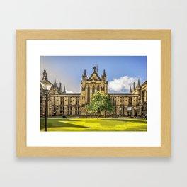Quadrangle at Glasgow University Framed Art Print