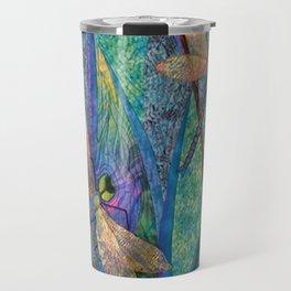 Colorful Dragonflies Travel Mug