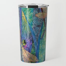Colorful Dragonflies Travel Mug