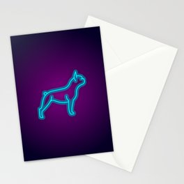 NEON FRENCH BULLDOG DOG Stationery Cards