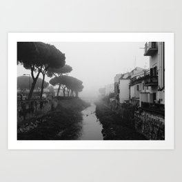 Fog in Le Cure, Florence Art Print