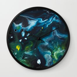Color Commentary #9: Green & Blue [Lynne Blaisdell] Wall Clock