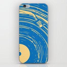 blues vinyl iPhone Skin