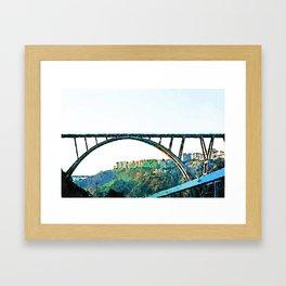 Catanzaro: Morandi bridge Framed Art Print