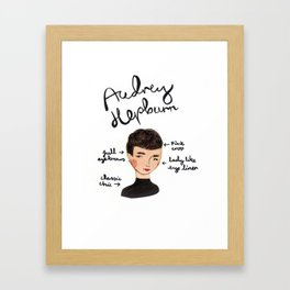Style Icon Audrey Hepburn Framed Art Print