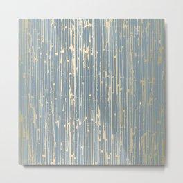 Gold reed bamboo Metal Print