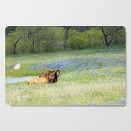 Horses & Bluebonnets Cutting Board