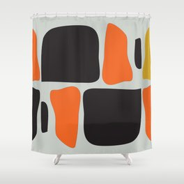 Abstract Graphic Spicy Puzzle Shower Curtain