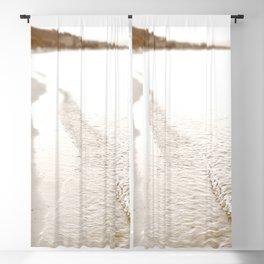 Minimalist pastel beach scape Blackout Curtain