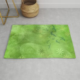Green Summer Grass Rug