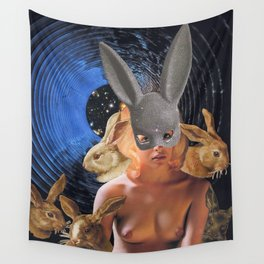 Conspiracy Bunny Wall Tapestry