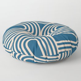 Abstraction_WAVE_GRAPHIC_VISUAL_ART_Minimalism_001 Floor Pillow