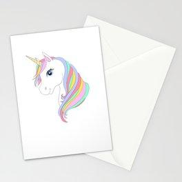 Unicorn cartoon Stationery Cards