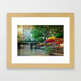 San Antonio Riverwalk Framed Art Print