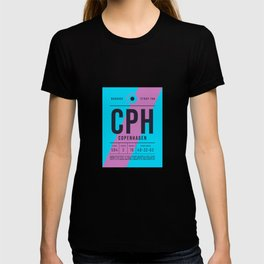 Baggage Tag E - CPH Copenhagen Kastrup Denmark T-shirt