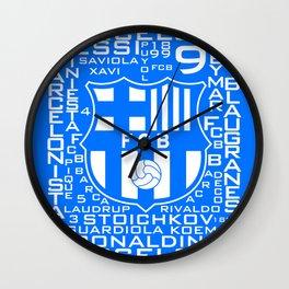 MixWords: Barcelona Wall Clock