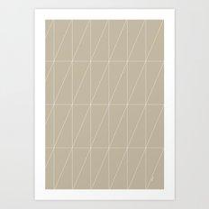 Neutral Triangles by Friztin Art Print