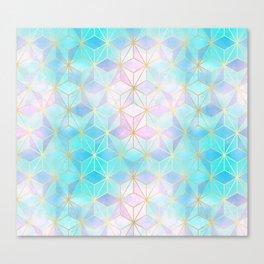 Iridescent Glass Geometric Pattern Canvas Print