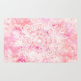 Queen Starring of Mandalas-Rose Rug
