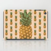 pineapples iPad Cases featuring Pineapples by Brocoli ArtPrint