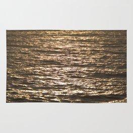 Sun ray on the sea Rug